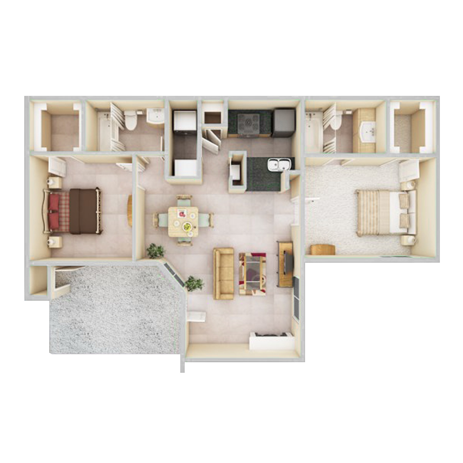 Senior living floor plan rendering Peaceful Pines Senior Living Rapid City, Sd